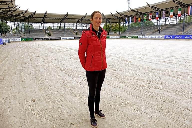 Simone Blum im Deutsche Bank Stadion.