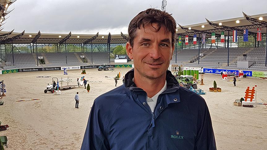 Steve Guerdat im Deutsche Bank Stadion.