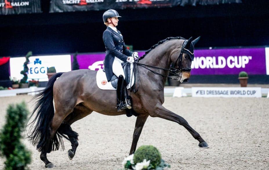 Auch im sechsten Jahr kamen die Sieger im Dressurweltcup von Salzburg aus Deutschland: Jessica von Bredow-Werndl & TSF Dalera BB. © EQWO.net