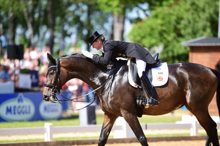 Siegerin der CDI5* Grand Prix Kür 2019: Olympiahoffnung Jessica von Bredow-Werndl und Dalera BB. Foto: gr. Feldhaus