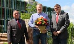 AGS-Vorstand v. li: Detlef Schwolow, Carsten Grill, Wolfgang Jung Fotovermerk: AGS
