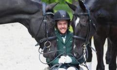 Der Ire Michael Murphy (mit Cleverboy und Dark Diamond) kam nach München, um sich für die Paralympics zu qualifizieren - jetzt hat er bereits zwei Siege in der Tasche. Foto: Hubert Fischer
