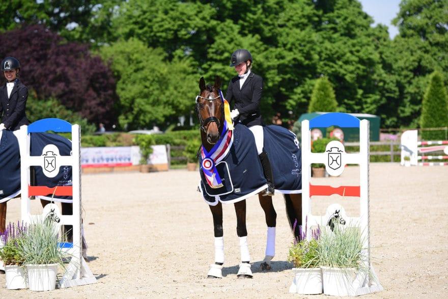 De Coeur v. De Niro-Exorbitant xx tanzte zum Sieg im Holsteiner Landeschampionat der sechsjährigen Dressurpferde. (Foto: Janne Bugtrup)