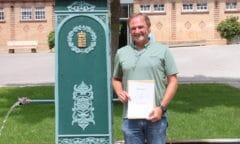 46 Jahre im Dienst des Gestüts: Michael Maier bei seiner Verabschiedung am Stutenbrunnen in Marbach (Foto: Kazmaier)