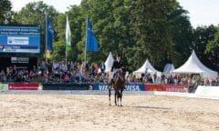 Verden International ist vom 24. - 29. August Treffpunkt für internationalen Sport mit der WM der Jungen Dressurpferde und bedeutenden Serien. Hier Holga Finken mit Gino im NÜRNBERGER BURG-POKAL. (Foto: J. Fellner)