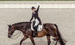 Tokyo 2020 Olympic Games - Dressage Day 1 Grand Prix. Jessica von Bredow-Werndl (GER) with her ride TSF Dalera at the Baji Koen Equestrian Park Tokyo (JPN) FEI:Christophe Taniere