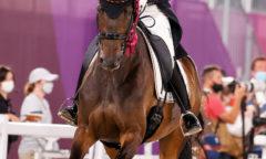 Trakehner Doppelgold auf dem Olympischen Dressurviereck für Jessica von Bredow-Werndl und TSF Dalera BB. (Foto: Sportfotos Lafrentz)