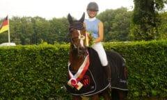 Westfalen-Champion der fünfjährigen Springpferde Bella Donna S v. Balous Bellini/Calido (Bildnachweis: Westfälisches Pferdestammbuch)