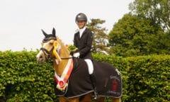 Westfalen-Champion der fünfjährigen Dressurponys Glücksengelchen (Bildnachweis: Westfälisches Pferdestammbuch)