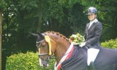 Westfalen-Championesse der sechsjährigen Dressurpferde: Despacita mit Johanna Klippert