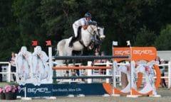 Roland Englbrecht und Merwisto`s Corwinni sicherte sich Gold in der Österreichischen Staatsmeisterschaft Springen in Ebreichsdorf. (Foto: horsic.com)