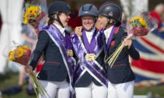 EUROPEAN EVENTING CHAMPIONSHIP - AVENCHES 2021. Individual Podium Team GB celebrates victory  . Piggy MARCH (GBR) Nicola WILSON (GBR) and Sarah BULLIMORE (GBR)