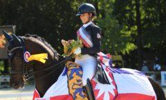 Die Landesmeisterschaften Dressur und Springen finden in Bad Segeberg wieder gemeinsam statt. Hier Ophelia Shalom und Dolce Fita, die ihren Titel vom 17. - 19. September verteidigen muss. (Foto: Tierfotografie Huber)