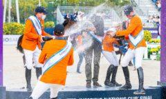 Die Niederländer feiern ihren Sieg